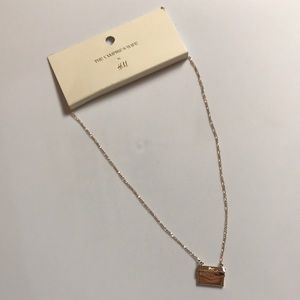 H&M x The Vampire Wife Gold Letter Necklace